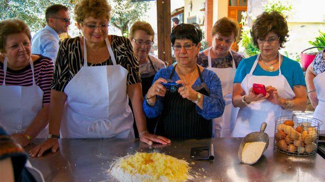 Making homemade pasta - Food Tour Sorrento