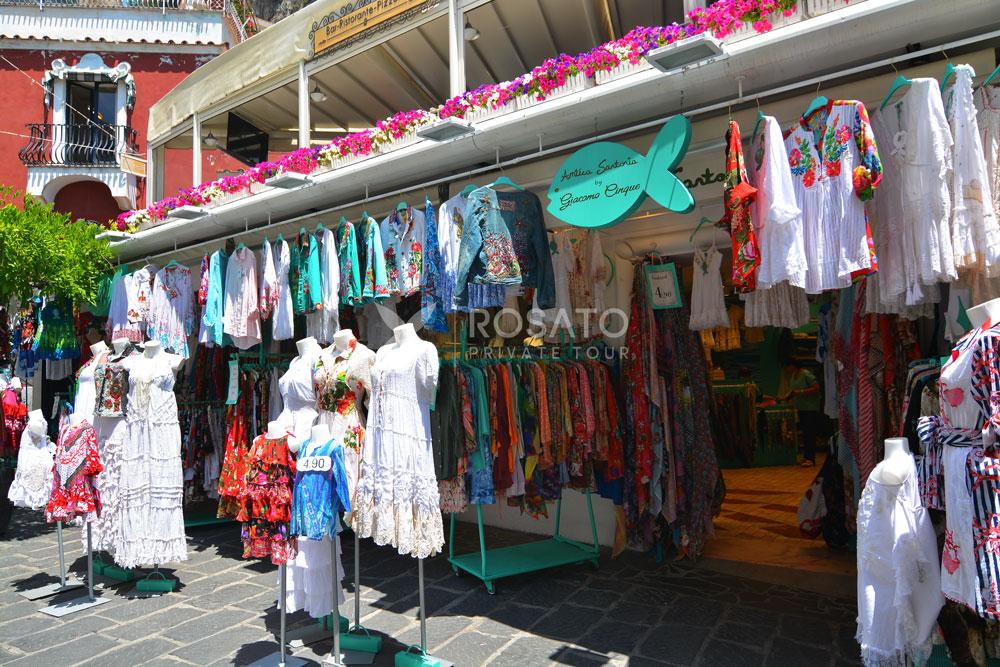 Positano - Linen Shop tour from Naples