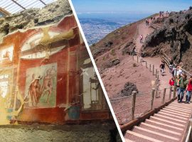 Vesuvius walking tour, Visit of Herculaneum Ruins and wine tasting from Sorrento